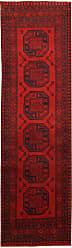 Nain Trading Handknotted Afghan Akhche Rug 91x27 Runner Dark Brown/Dark Red (Wool, Afghanistan)
