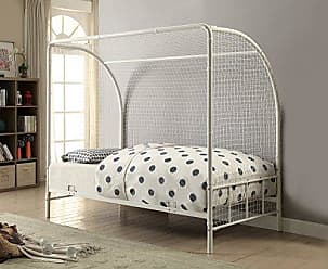 Coaster 301068-CO Bennette Black Metal Soccer Goal Twin Bed, Twin Bed