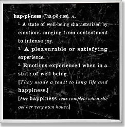 The Stupell Home Décor Collection The Stupell Home Decor Collection Happiness Definition Inspiration Wall Plaque