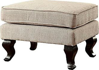 FURNITURE OF AMERICA HOMES: Inside + Out IDF-AC6271BG-OT Connet Traditional Ottoman Table Beige