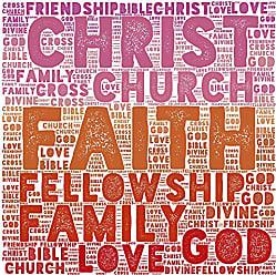 Buyartforless Buyartforless Christ, Family, Love, Family, Church, God, Inspirational Typography Gallery Wraped Canvas by Beth Albert