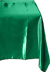 LA Linen Fitted Bridal Satin Tablecloth 96 by 30 by 30-Inch, Green Kelly