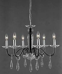 Elegant Lighting 6906D23B Avalon 6-Light Single-Tier Crystal
