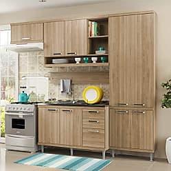 Multimóveis Cozinha Completa com Balcão sem Tampo 5 Peças 9 Portas Sicília Multimóveis Argila