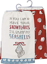 Primitives By Kathy Beach Holiday Dish Towel Set, You can Have Your Snowflakes