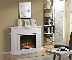 Homestar ZCUMBRIA Wide Electric Fireplace Mantel, 41 x 11 7/8 x 34 1/8, White