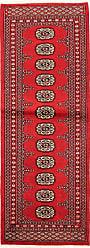 Nain Trading Oriental Pakistan Buchara 2ply Rug 59x22 Runner Red/Rust (Wool, Pakistan, Hand-Knotted)
