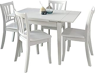 CorLiving DSH-210-Z2 Dillon Dining Set, White