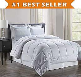 Elegant Comfort Luxury Bed-in-a-Bag Comforter Set on Amazon! Elegant Comfort Wrinkle Resistant - Silky Soft Beautiful Design Complete Bed-in-a-Bag 8-Piece Comforter Set -Hypoallergenic- Full/Queen, White