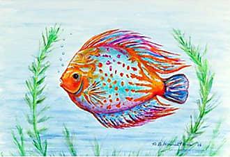 Betsy Drake PM358 Orange Fish Place Mat, Set of 4
