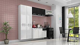 Itatiaia Cozinha Compacta 4 Peças 10 Portas Branco E Preto Amanda Itatiaia