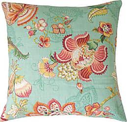 The Pillow Collection P18-D-42479-CARIBBEAN-L55R45 Caribbean Lieve Floral Pillow