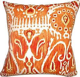 The Pillow Collection Haestingas Ikat Pumpkin Down Filled Throw Pillow