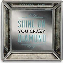 Pavilion Gift Company 68518 Pretty Inappropriate - Shine on You Crazy Diamond Mirrored Square Jewelry Dish
