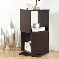 Baxton Studio Ogden 2-Level Rotating Modern Bookshelf - Dark Brown - WI4888