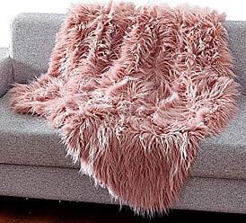 Ben&Jonah Ben & Jonah Himalayan Ultra Soft Heavy Faux Fur (50 x 60) -Shaggy Hair Pink Throw Blanket