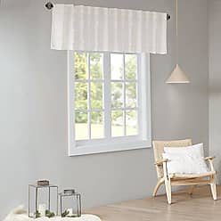 Urban Habitat Brooklyn Cotton Jacquard Pom Rod Pocket/Back Tab Window Valance Swag for Living Room Kitchen or Bathroom, 50 W x 18 L, Ivory