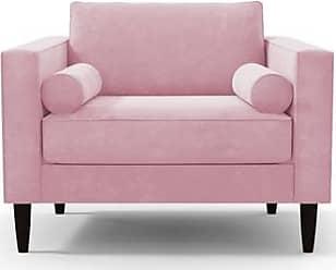 Apt2B Samson Chair - Leg Finish: Espresso - Pink Plush Velvet - Accent Chair - Furniture sold by Apt2B