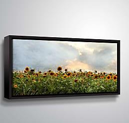 Brushstone Sunflower Field by Scott Medwetz Framed Canvas - 0MED896A0612F