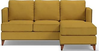 Apt2B Osborne Reversible Chaise Sofa - Leg Finish: Pecan - Yellow Poly Blend - Sold by Apt2B - Modern Couch Made in the USA