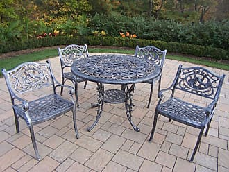 Oakland Living Outdoor Oakland Living Mississippi Cast Aluminum 42 in. Hummingbird Patio Dining Set - 2011-3312-5-AP