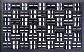 Geo Crafts Rubber Basket Weave Doormat
