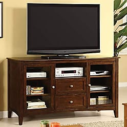 Benzara BM172717 Capacious Wooden Transitional TV Console, Brown, One