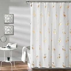 Lush Décor Flamingo Shower Curtain - Gold - Size:72X72