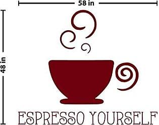 The Decal Guru Espresso Yourself Wall Decal (Burgundy, 48 (H) X 58 (W))