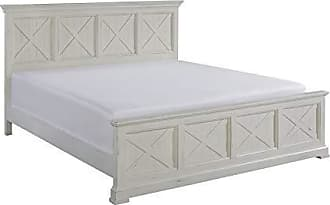 Home Styles Seaside Lodge White King Bed by Home Styles