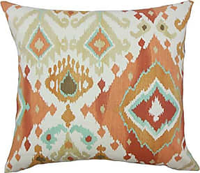 The Pillow Collection Gannet Ikat Bedding Sham Clay Euro/26 x 26