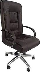 Pelegrin Cadeira Presidente Giratória Em Couro Pu Marrom Pelegrin Pel-8017h