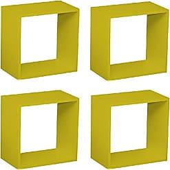 Siena Móveis Kit Quarto Infantil 4 Nichos Cubo Vitra Kit Cubos Baby Siena Móveis Amarelo