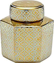 Espressione Potiche de Cerâmica 17cm Dourado Espressione