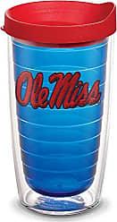 Trevis Tervis 1055458 Ole Miss Rebels Logo Tumbler with Emblem and Red Lid 16oz, Blue
