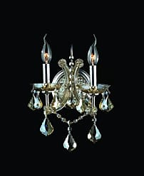 Worldwide Lighting W23116C10-GT Lyre 2 Light 10 Wall Sconce in Chrome