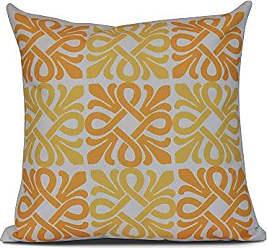 E by Design E by design Tiki Square Geometric Print Pillow 16 x 16 Yellow