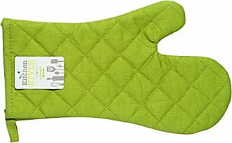 Now Designs Kitchen Style by Now Designs Basic Mitts, Green, Set of 2
