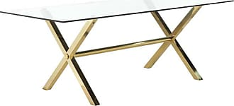 Pangea Home Gold Beverly Dining Table - GBEVERLY-DT