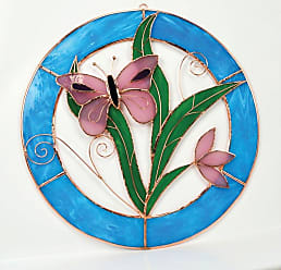 Gift Essentials Pink Butterfly Circle Window Panel - GE108