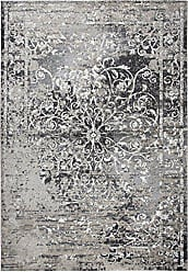 Rizzy Home Panache Collection Polypropylene Taupe/Gray/Ivory/Black/Beige Central Medallion Scroll Work Distress Area Rug 23 x 77