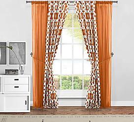 Duck River Textile s - Home Decorator Window Curtain Pair Panel Drapes for Living room, Bedroom, Kids Room, Children, Nursery - Set of 2 Panels - 37 X 84 Inch - Peach Orange