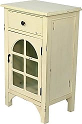 Heather Ann Creations Single Drawer Distressed Cabinet, 30 x 18, Antique White