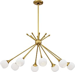George Kovacs Pontil 36.5 8-Light Island Pendant in Honey Gold