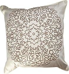 Revman International Stone Cottage Medallion Embroidered Decorative Pillow, 18-Inch