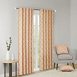 Madison Park Delray Diamond Blackout Window Curtain 1 Panel for Bedroom and Dorm, 42x95, Orange