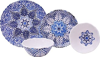 222 Fifth PTS America Rustic Medallion 12 Piece Melamine Dinnerware Set - 3641BL797A7J02