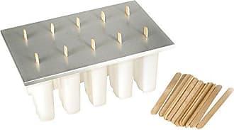 Fox Run Craftsmen Fox Run 50302COM Reusable Frozen Ice 24 Popsicle Sticks Pop Maker, Aluminum Cover