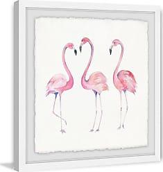 Marmont Hill Flamingo Trio Framed Wall Art - MH-KIDGRL-63-WFPFL-12