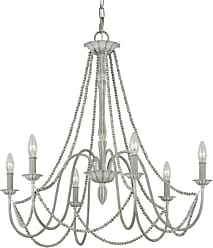 Feiss F3240/6 Maryville 6 Light 28 Wide Outdoor Beaded Chandelier